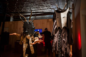Krampusnacht merrymakers, with masks by Catie Olson. Photo by Daneila Colucci